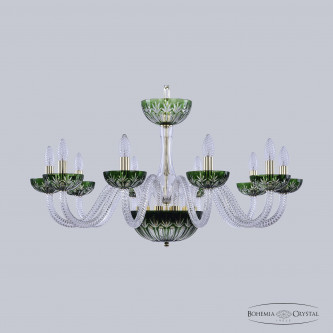 Люстра Bohemia Ivele Crystal 1308/10/300 G Cl/Clear-Green/H-1I