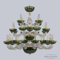 Люстра Bohemia Ivele Crystal 1309/16+8+4/300/3d G Cl/Clear-Green/H-1J