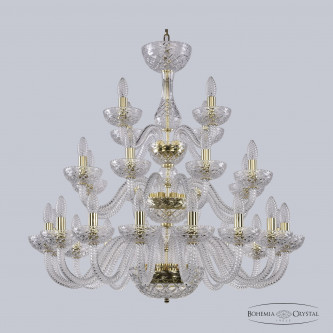 Люстра Bohemia Ivele Crystal 1310/16+8+4/300/3d G Cl/Clear/M-1F