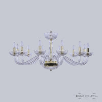 Люстра Bohemia Ivele Crystal 1311/12/360 G Cl/Clear/M-1G